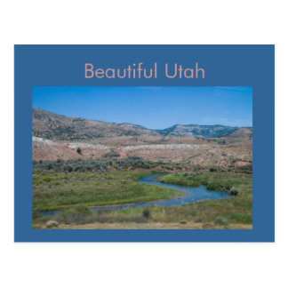 Utah Stream Valley from the California Zephyr Postcard