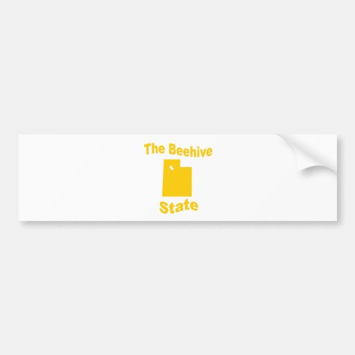 Utah: The Beehive State Bumper Sticker