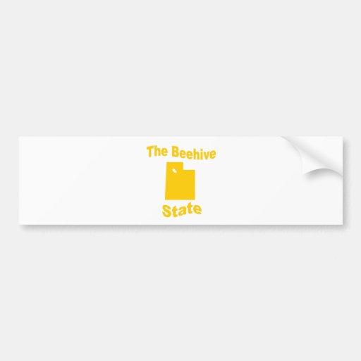 Utah: The Beehive State Car Bumper Sticker