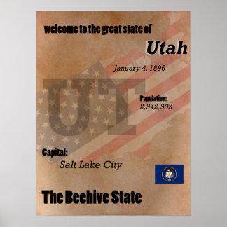 Utah The Beehive State Classic Poster