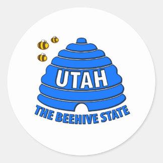 Utah: The Beehive State Classic Round Sticker