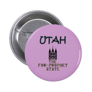 UTAH: The For-Prophet State 6 Cm Round Badge