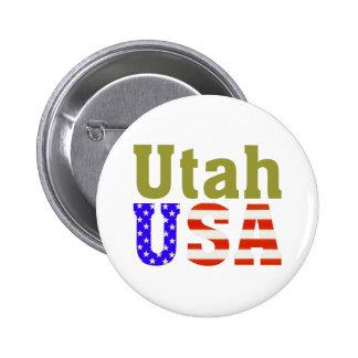 Utah USA! 6 Cm Round Badge