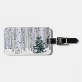 UTAH. USA. Aspen (Populus tremuloides) & Douglas Luggage Tag