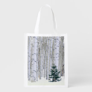 UTAH. USA. Aspen (Populus tremuloides) & Douglas Reusable Grocery Bag