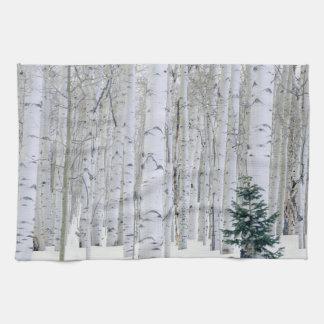 UTAH. USA. Aspen (Populus tremuloides) & Douglas Tea Towel