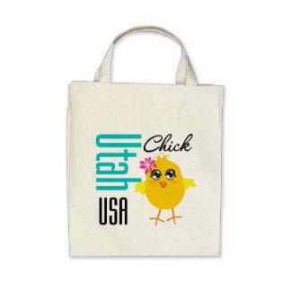 Utah USA Chick Canvas Bags
