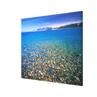 UTAH. USA. Clear water of Bear Lake reveals Gallery Wrap Canvas