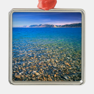 UTAH. USA. Clear water of Bear Lake reveals Silver-Colored Square Decoration