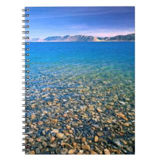 UTAH. USA. Clear water of Bear Lake reveals Notebook