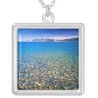UTAH. USA. Clear water of Bear Lake reveals Square Pendant Necklace