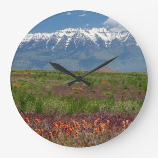 Utah, USA. Mt. Timpanogos Rises Above Large Clock