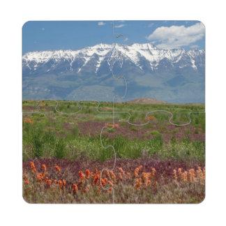 Utah, USA. Mt. Timpanogos Rises Above Puzzle Coaster