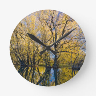 Utah. USA. Peachleaf Willow Trees Round Clock