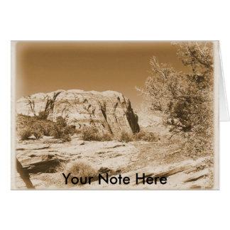 Utah vintage greeting card
