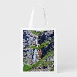 Utah Waterfall #1a- Reusable Bag - Single-sided