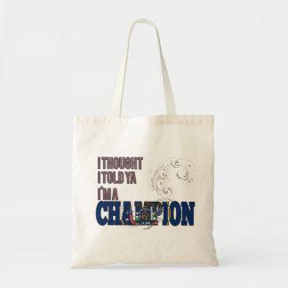 Utahan and a Champion Tote Bag