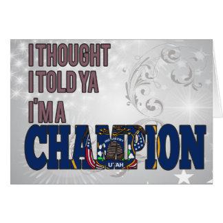 Utahan and a Champion Greeting Cards