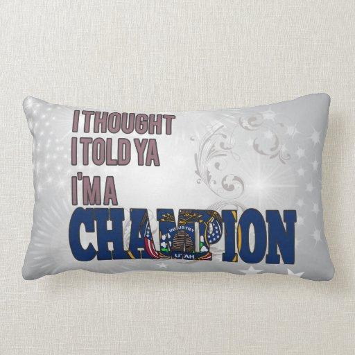 Utahan and a Champion Throw Pillow