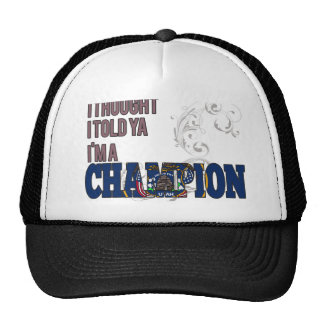 Utahan and a Champion Trucker Hats