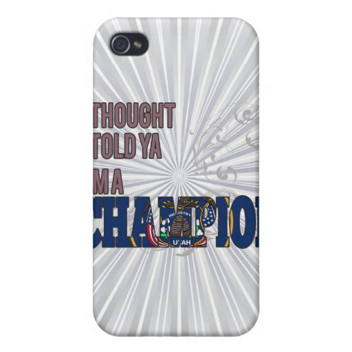 Utahan and a Champion iPhone 4 Case