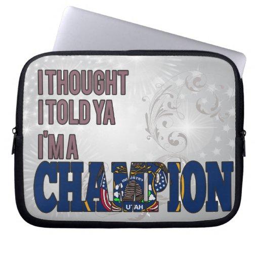 Utahan and a Champion Computer Sleeve