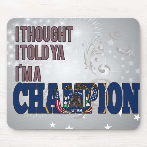 Utahan and a Champion Mouse Pads