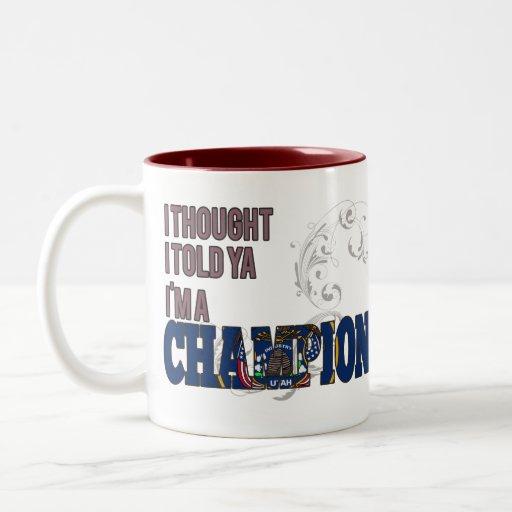 Utahan and a Champion Mugs
