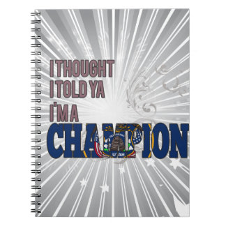 Utahan and a Champion Spiral Note Book