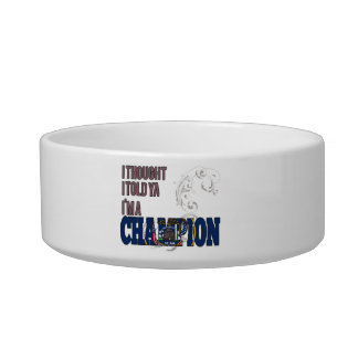 Utahan and a Champion Cat Water Bowls