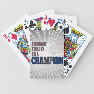 Utahan and a Champion Deck Of Cards