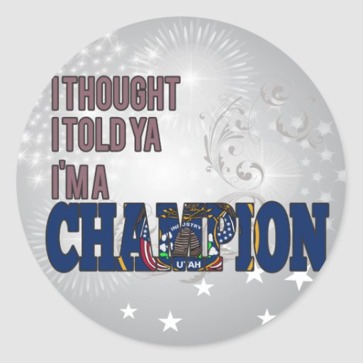 Utahan and a Champion Stickers