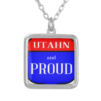 Utahn And Proud Silver Plated Necklace