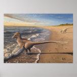 Utahraptor at Dawn Print