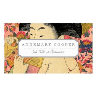 Utamaro: Kushi (Comb). Pack Of Standard Business Cards