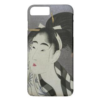 Utamaro's Ase O Fuku Onna art phone cases