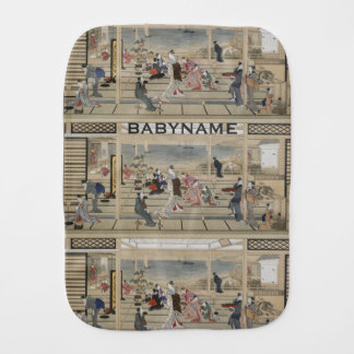 Utamaro's Japanese Art burp cloth