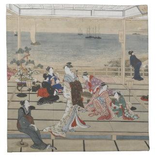 Utamaro's Japanese Art cloth napkins