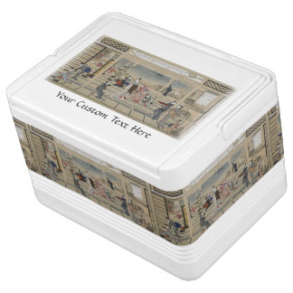 Utamaro's Japanese Art custom cooler Igloo Cooler