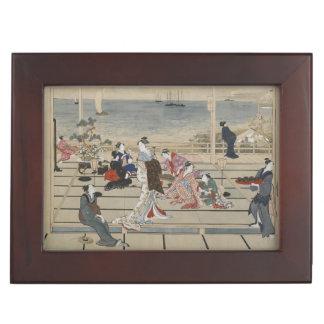 Utamaro's Japanese Art custom keepsake box