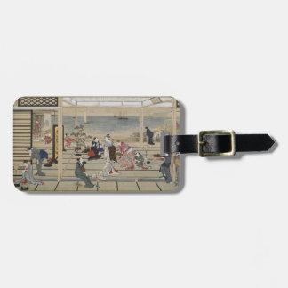 Utamaro's Japanese Art custom luggage tag