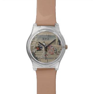 Utamaro's Japanese Art custom monogram watches