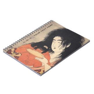 Utamaro's Japanese Art custom notebook