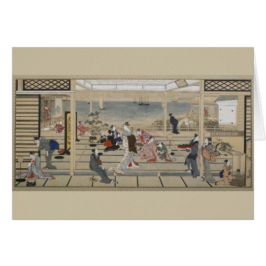 Utamaro's Japanese Art greeting card