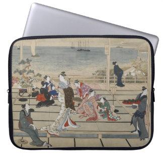 Utamaro's Japanese Art laptop sleeve