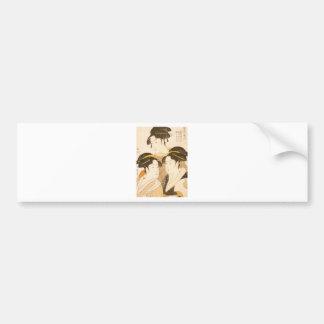 Utamaro - UKIYOE- Bumper Sticker