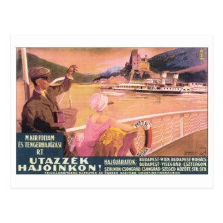 Utazzek Hajoinkon Budapest Travel Poster Postcard