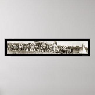 Ute Indian Camp Photo 1913 Print