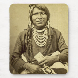 Ute Indian with Pistol and Card Mousepads