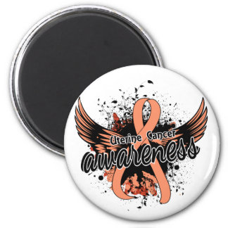 Uterine Cancer Awareness 16 6 Cm Round Magnet